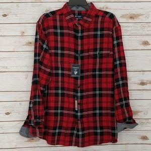 Cremieux mens NWT Plaid Button Front Shirt (4Z/3P)